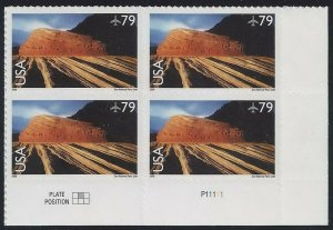 c146 - 79c F-VF Plate Block of 4 Zion National Park Mint NH