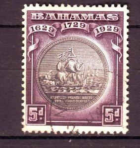 J24098 JLstamps 1930 bahamas used #87 ships