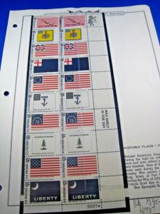 U.S.-SCOTT #1345-1354 - HISTORIC FLAG SERIES PLATE BLOCK   (kbus13)