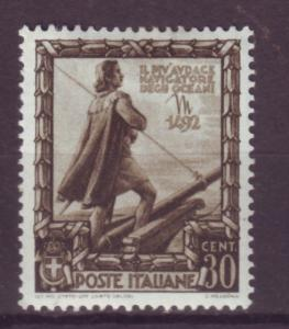 J16985 JLstamps 1938 italy mh #403 columbus