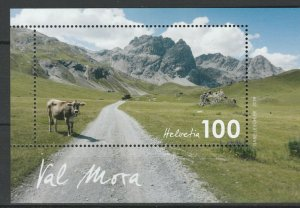 Switzerland 2019 Mountains MNH Block