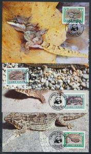 Cape Verde stamp WWF Reptile set CM Cover 1986 Mi 500-503 WS202926