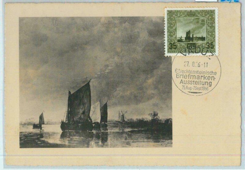 90237 - LIECHTENSTEIN - Postal History - MAXIMUM CARD - ART boats 1956