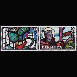 BERMUDA 1992 - Scott# 635-6 Stained Windows 60-75c NH