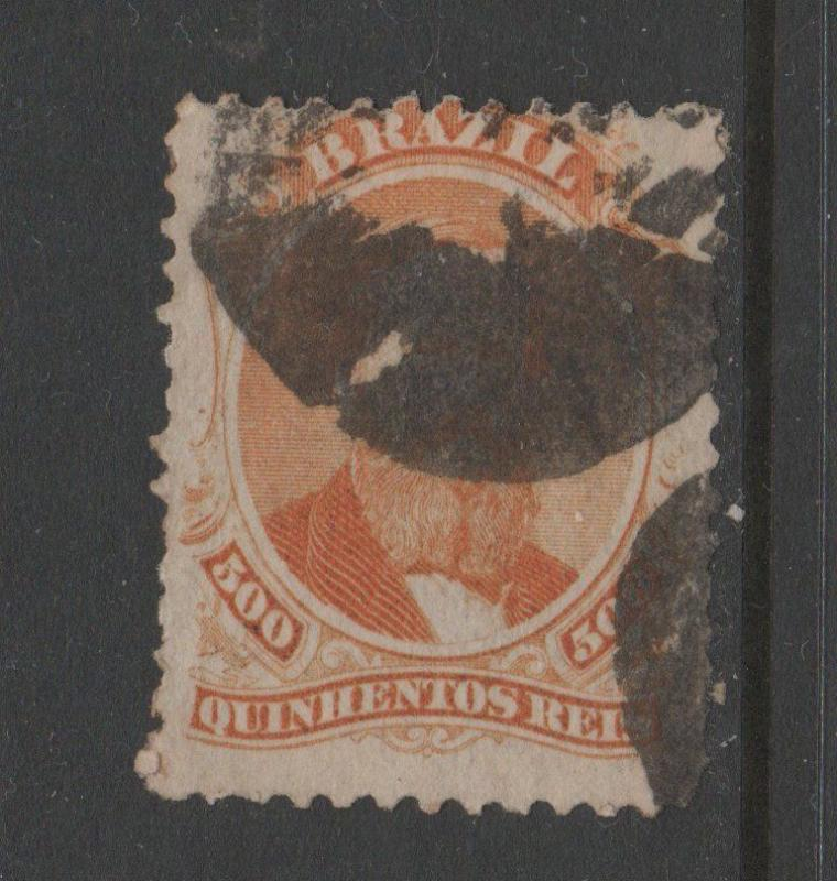 BRAZIL USED STAMPS scott 60 $42 256 1018