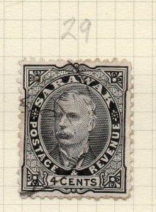 Sarawak 1895 Brooke Early Issue Fine Used 4c. 276135