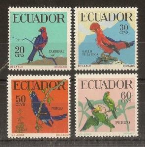 Ecuador 1958 Tropical Birds SG1120-1123 MNH