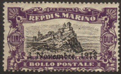 San Marino #B16 off center but MNH