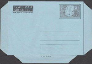 ST VINCENT 25c Postmarks airletter / aerogramme unused......................M969