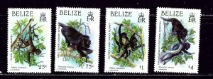 Belize 868-71 MNH 1987 Monkeys  #2