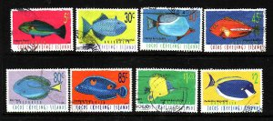 Cocos (Keeling) Is.-Sc#304-15 ex 308, 311-13-used 2/3 set-Fish-Marine Life-1995-