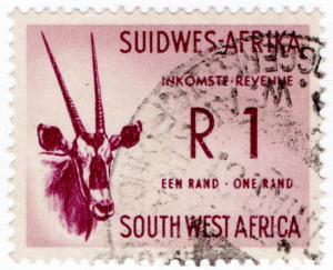 (I.B) South-West Africa Revenue : Duty Stamp R1