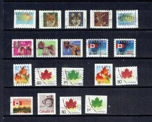 CANADA - 2000 - 2004 DEFINITIVES - SCOTT 1878//2054 - USED - SEE DESCRIPTION