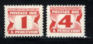 C  J28a, J31a  M NH VF 1977-78 PD