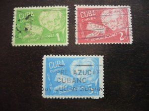 Stamps - Cuba - Scott# 399-401 - Used Set of 3 Stamps