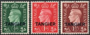 MOROCCO AGENCIES (TANGIER)-1937 Set of 3 Sg 345-347 UNMOUNTED MINT V42921