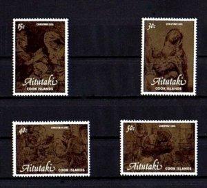 AITUTAKI - 1981 - CHRISTMAS - HOLY FAMILY - NATIVITY - REMBRANDT - MINT MNH SET!