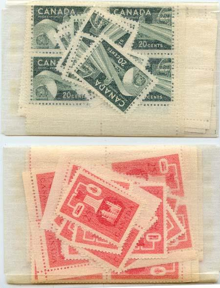 Canada -1956 Paper & Chemical Industry X 40 each mint #362-3