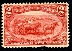 US #286 1898 2c Trans-Mississippi Exposition. Used. VF.