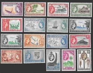 Solomon Islands SC 89-105 - Queen Elizabeth II -  MLH - 1956