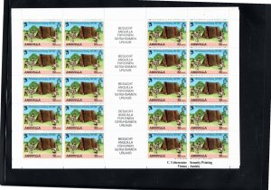 Anguilla 1982 Sc 502-5 MNH Commemorative Perforate Sheetlet of 20 with Dutch ...