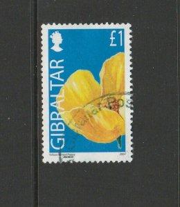 Gibraltar 2004 Wild Flowers Defs £1 FU SG 1105