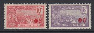 Guadeloupe, Scott B1-B2 (Yvert 75-76), MLH