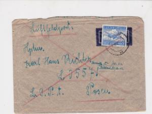 germany 1940s air field post stamps cover ref 19087