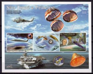 Sao Tome and Principe 2006 SPACE-CONCORDE-GALILEO-APOLLO 11 Imperforated S/S MNH