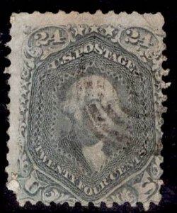 US Stamp #78 24c Lilac Washington USED SCV $400