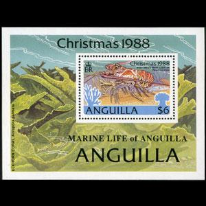 ANGUILLA 1988 - Scott# 772 S/S Lobster NH