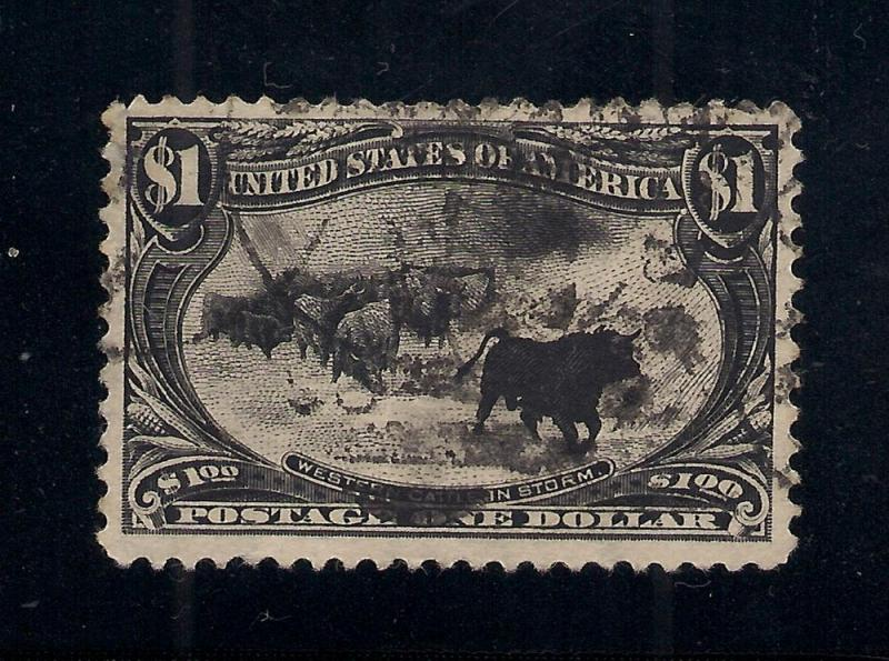 US#292 Black - $1.00 Trans. Miss. Expo Issue - Used