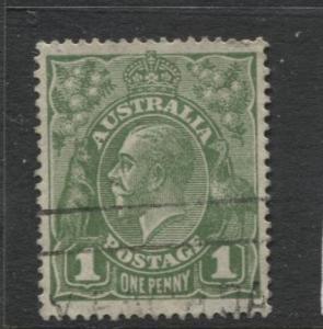 Australia - Scott 67 - KGV Head -1926 - FU - Wmk 203 - 1p Stamp3