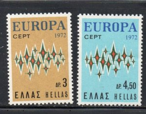 Greece Sc  1049-1050 1972  Europa stamp set mint  NH