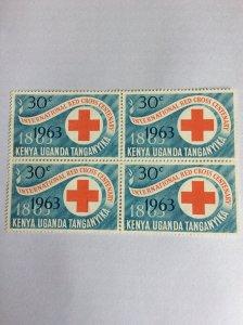 KUT 1963 30c Mint block of 4 hinged