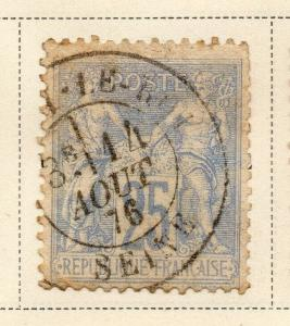 France 1876-78 Early Issue Fine Used 25c. NW-04819