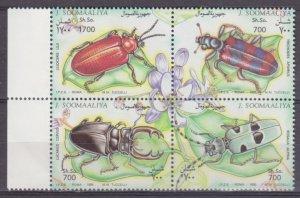 1995 Somalia 539-542VB Insects 12,00 €