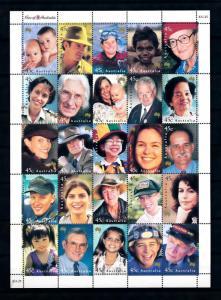 [74859] Australia 2000 Different Faces Diving Salvation Army Children  MNH
