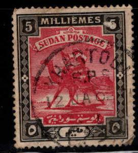 SUDAN Scott 12 Used camel mail stamp crease