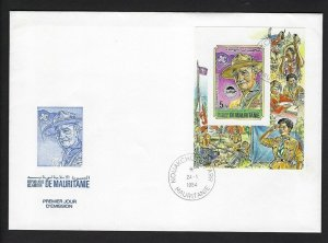 1984 Scouts Mauritania World Jamboree BP Imperf SS FDC