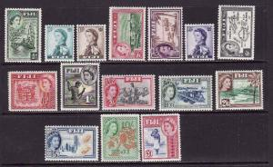 Fiji-Sc.#147-62-unused hinged QEII set-id8-1954-6-