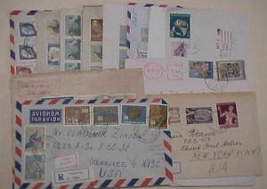 YUGOSLAVIA   12 REGISTERED COVERS AFTER 1950 MOSTLY TO USA