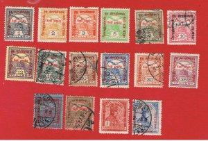 Hungary #B35-B50 VF used  Semi-Postal  Free S/H