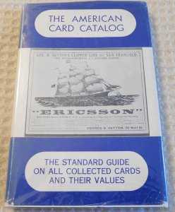 1960 Jefferson Burdick The American Card Catalog The Standard Guide