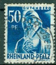 Germany - French Occupation - Rhine Palatinate - Scott 6N26