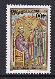 Andorra French    #552   MNH  2002  legends  euro 1