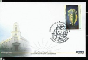 URUGUAY 2012 PAINTING,MEDICAL PSIQUIATRIC CENTER COLONIA ETCHEPARE FDC YV 2599
