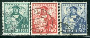 Germany Deutsche Post Scott # 662 - 664, used