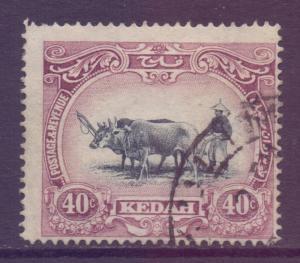 Malaya Kedah Scott 14 - SG9, 1912 Ploughing 40c used