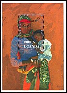 Uganda 1430, MNH, 50th Anniversary of UNICEF souvenir sheet